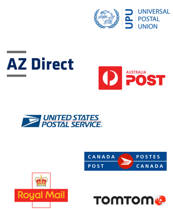 UPU, AZ Direct, Australia Post, USPS, Canada Post, Royal Mail, TomTom